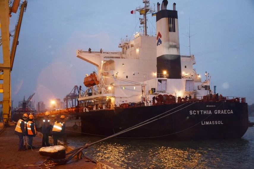Впорт «Черноморск» прибыло судно суглем изЮАР