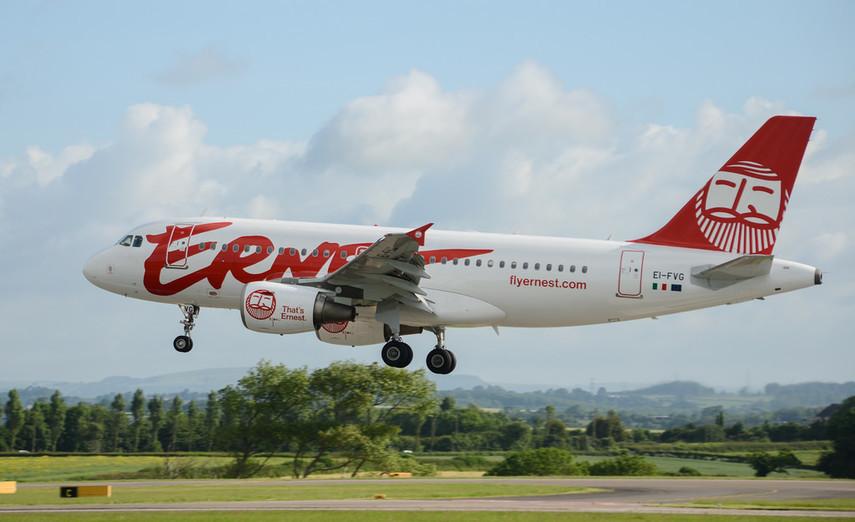 Лоукостер Ernest Airlines прибавит новые рейсы изЛьвова иЖулян