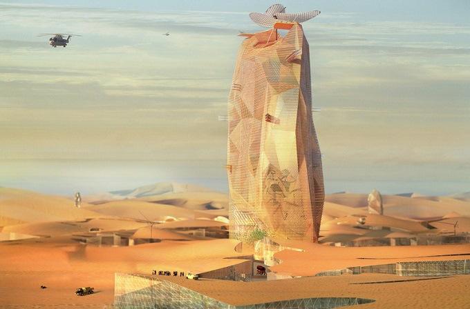 1 Французы строят в Сахаре «зеленый» город-небоскреб