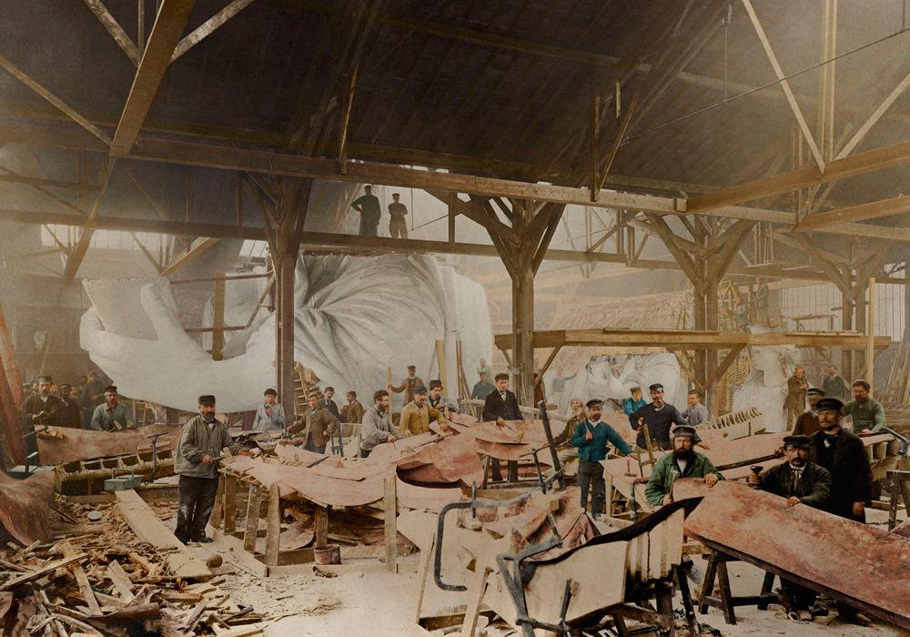 Как строились мировые достопримечательности (Фото)