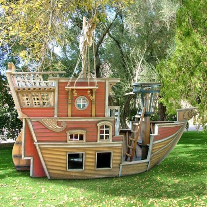 Игровой домик на дереве для детей своими руками