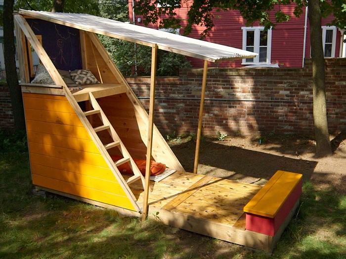 Идеи для детской площадки из дерева своими руками